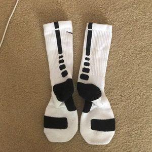 Nike white/black elite socks